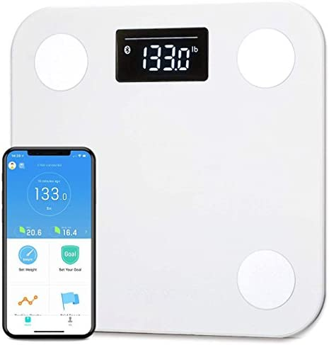 YUNMAI Smart Scale, Body Fat Scale with Free APP Body Composition BMI Monitor Analyzer with Large Display, Work with iPhone 8 iPhone X 10