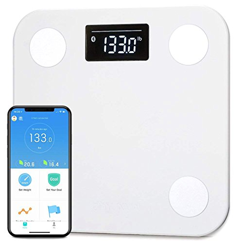 Yunmai Smart Scale - Body Fat Scale with new FREE APP & Body Composition Monitor with Extra Large Display - Works with iPhone 8/iPhone (Extra Large Display)