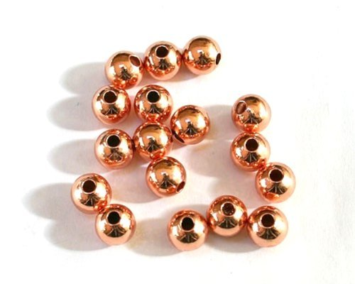 Angel Malone 100 x 4mm Premium Rose Gold Brass Spacer Beads