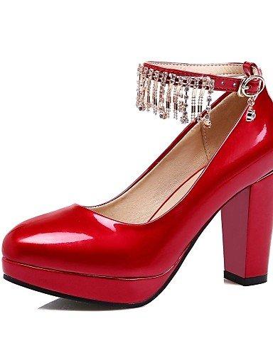 GGX/Microfaser Damen-Schuhe Lackleder/Leder Frühjahr/Sommer/Herbst Heels/Schuhe heelswedding/Office pink-us10.5 / eu42 / uk8.5 / cn43