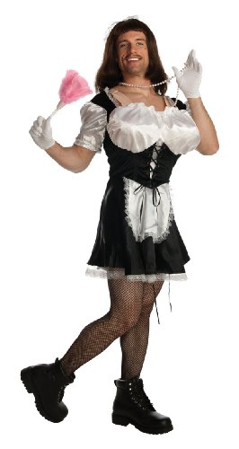 Rubie's Costume Double Take Busty Dusty Costume, Black/White, One Size - Man Maid Costume
