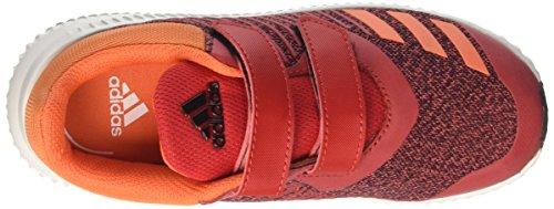 adidas Unisex-Kinder FortaRun CF K Sneakers Rot (Scarle/Eneora/Ftwwht)