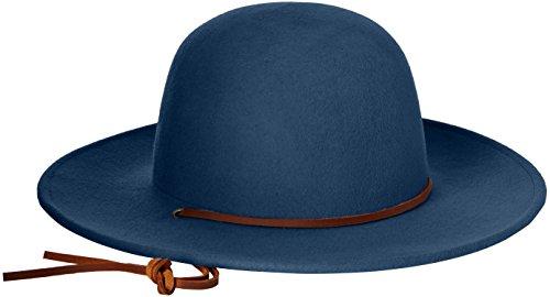 788351951 Brixton Men's Tiller Wide Brim Felt Fedora Hat, Indigo, Large ...