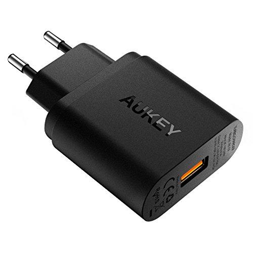 AUKEY Quick Charge 3.0 USB Ladegerät 19.5W für Samsung Galaxy S7, iPhone 6s, Tablets und andere USB Geräte(Schwarz)