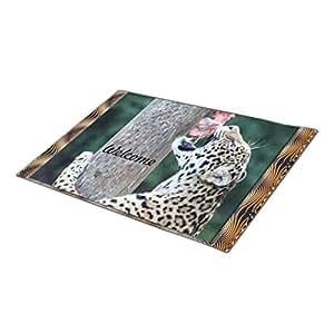 EUDDP Doormat Leopard Looking Indoor Mats