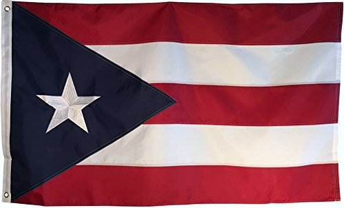 Puerto Rico Flag - 3x5 Foot Outdoor Nylon Banner with Embroi