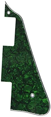 Kmise A6619 6 Piece New Pickguard for Gibson Les Paul Electric Guitar Replacement, Green Pearl by Kmise