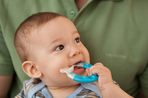 Blue Bite And Brush Teether