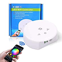 Sanwo WiFi Wireless Smart Controller, Working with 4-Pins/5-Pins RGB/RGBW 5050/3528 LEDs Strip Light, App Remote Control for Android, iOS and Alexa