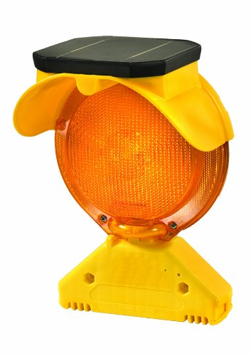 Checkers BS.B.D2 Polycarbonate and Polypropylene Solar Barricade Lights, Type B with 2.25'' D Bolt, 7.5'' Length, 5.5'' Width, 11'' Height
