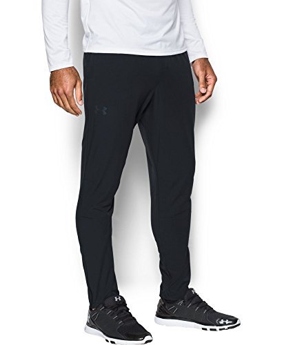 Under Armour Men's Circuit Woven Tapered Pants, Black/Black, X-Large