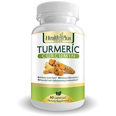 Health Plus Prime Turmeric Curcumin with 95% Curcuminoids for Maximum Health & Vitality (60 Capsules)