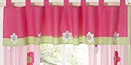 Pink and Green Flower Collection Window Valance by Sweet Jojo Designs