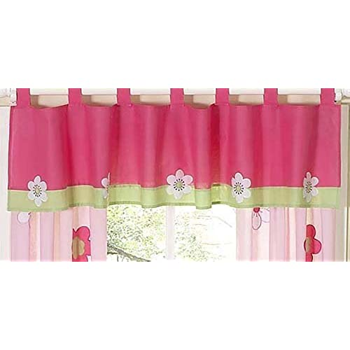 Sweet Jojo Designs Pink And Green Flower Collection Window Valance