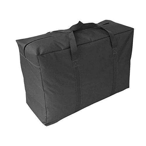 Heavy-duty Waterproof Oxford Home Quilt Blanket Pillow Garment Foldable Oversized Zipper Storage Bag Case Container Box Wardrobe/Cloakroom/Closet Organizer Luggage Clothes Shoes Duffle Bag with Handle