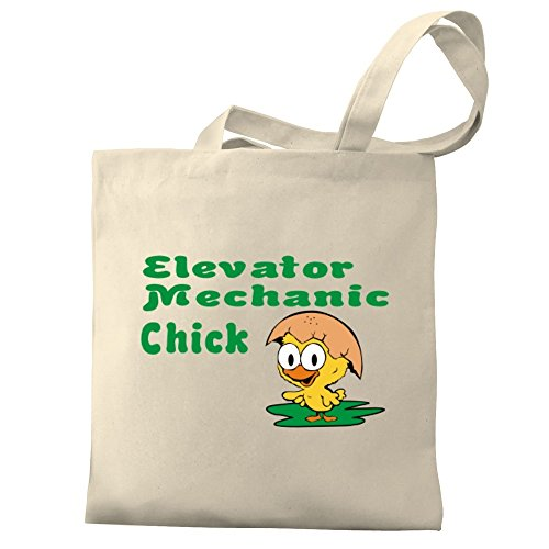 Bag Tote Eddany Eddany chick Elevator Mechanic Canvas Elevator Mechanic chick Canvas Tote PwxHnqABCF