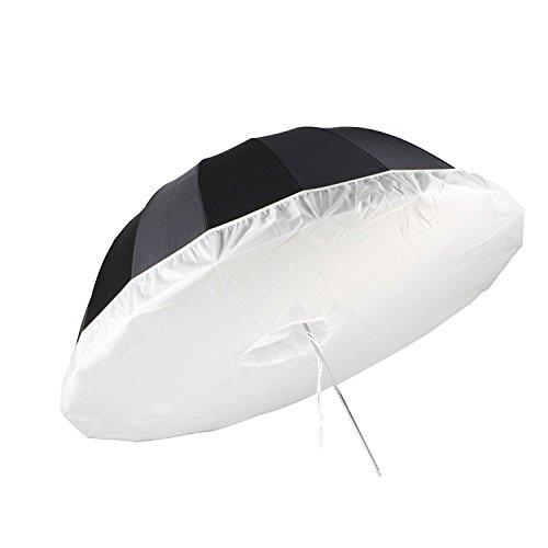 Selens 41 Inch Photo Studio Diffusion Parabolic Umbrella Front Diffuser Cover for Black Reflective Parabolic Umbrella White - 3.4 Feet