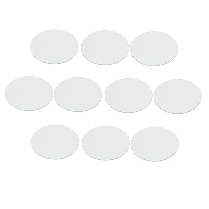 10 Stücke Uhrenglas Direkt Ersatz Mineralglas Uhr Glasspiegel für