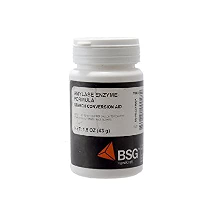 amylase enzima, 1.5oz (43g) por BSG mano Craft: Amazon.com ...