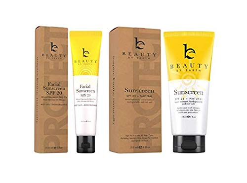 Sunscreen Kit; Facial Cream with SPF and Sunblock Bundle; With Organic and Natural Ingredients to Provide Sun Protection for Face and Body; Best for Preventing Signs of Early Aging and Sun Damage