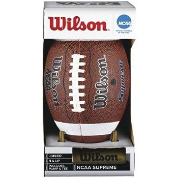 Wilson NCAA Supreme con inflador y tee (Júnior) - Balón de fútbol americano 5dba770244d
