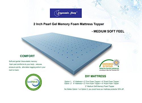Visco Foam Tgm17020q Ergonomic Sleep Queen Gel Foam