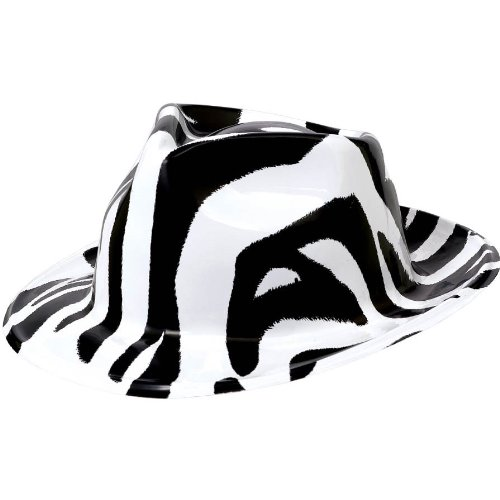 "UPC 013051434793, Awesome 80's Party Fedora Hat Accessory, Black and White, Plastic , 11"" x 10"""