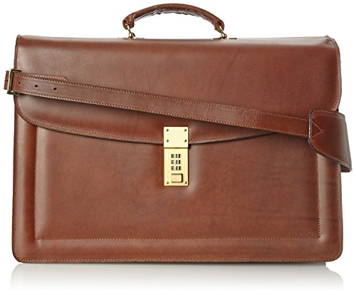 Leather Triple Gusset Flap - Jack Georges Triple Gusset Flap Over, Brown, One Size
