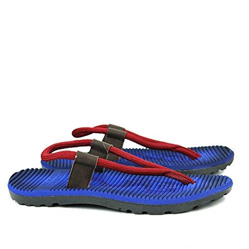 al Color adatti Sandali sudore open 42 Blue tempo il Qingqing in Size uomo assorbenti chiusi uomo per libero e toe chiuso da 2 per Sandali Blue 3 scarpe da pelle casual EU all'aperto 4gWdqO8w
