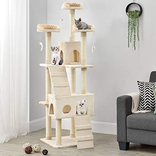 Sam´s Pet XXL Kratzbaum Amy – 4 Farben – mit zahlreichen Kuschel- & Spielmöglichkeiten – 170 cm groß