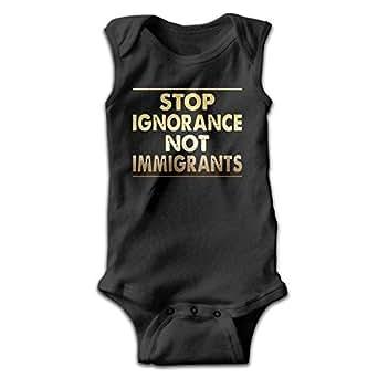 Amazon.com: Infant Stop Ignorance Not Immigrants Romper