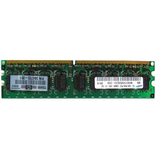 384705-051 1Gb Ddr2 667Mhz Pc2-5300 240-Pin Cl5 Ecc Unbuffered Dual R