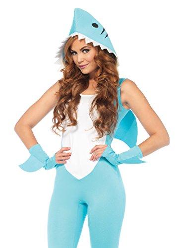 Leg Avenue Women's Cute Shark Halloween Costume, Aqua,