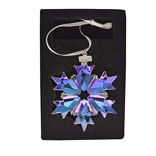 Crystal Snowflake Christmas Ornament - XIANGBAN 2018 Crystal Snowflake Pendant Annual Christmas Star Ornament