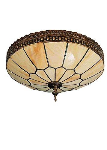 "Meyda Tiffany 26800 Vincent Honeycomb Flush Mount Light Fixture, 15"" Width"