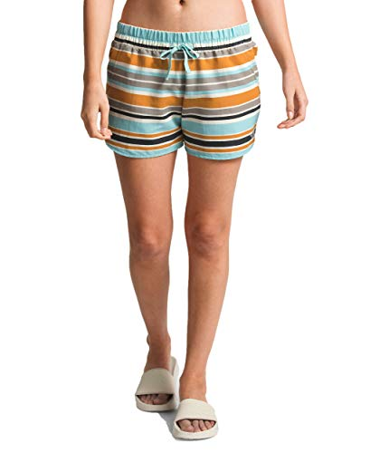 (The North Face Women's Class V Short, Vintage White W Variegated Stripe Print, Size M)