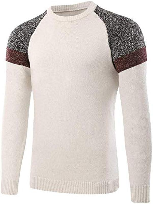 Męski sweter dziergany sweter Knitwear Basic Sweatshirt Top Sweater prosty styl drobno dziergany sweter: Odzież
