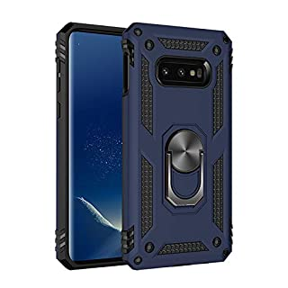 "Samsung Galaxy S10E Case, Extreme Protection Military Armor Dual Layer Protective Cover with 360 Degree Unbreakable Swivel Ring Kickstand for Samsung Galaxy S10E 5.8"" Blue"