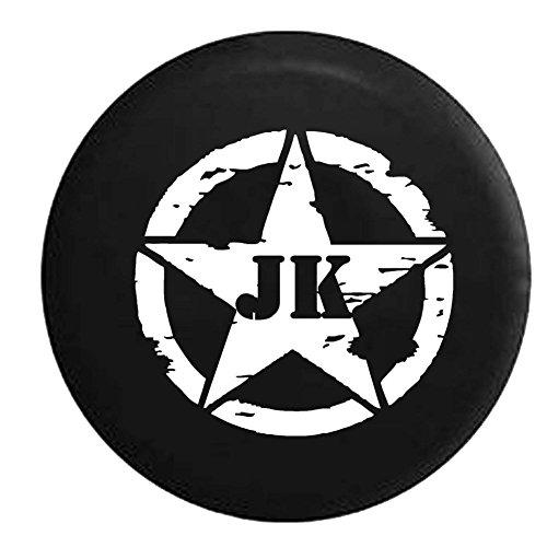 Oscar Mike Jeep JK Vintage Star Spare Tire Cover OEM Vinyl Black 32-33 in