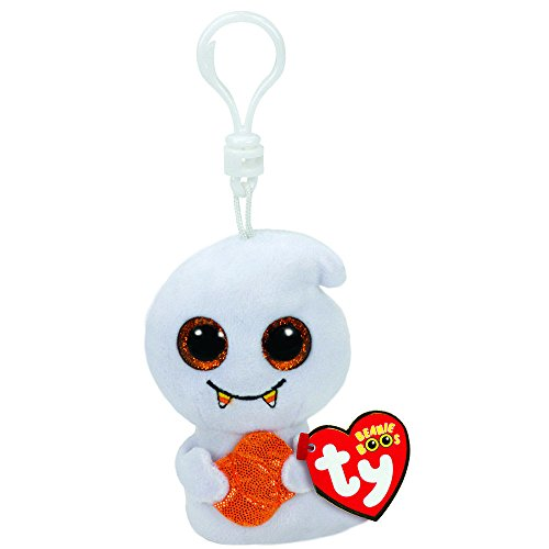 Claire's Girl's TY Halloween Beanie Boos Scream the Ghost Keychain Clip in ()