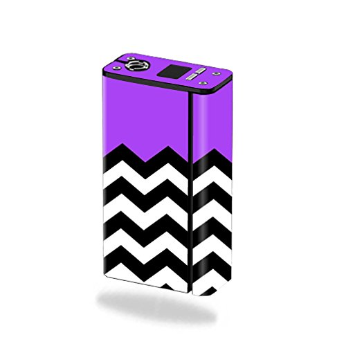 MightySkins Skin Compatible with Smok XCube Mini 75W - Purple Chevron   Protective, Durable, and Unique Vinyl Decal wrap Cover   Easy to Apply, Remove, and Change Styles   Made in The USA