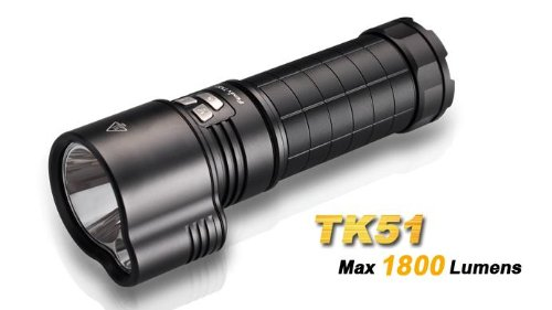 FENIX TK51 1800 Lumen Dual Beam CREE XM-L2 U2 LED Flashlight with 3X Fenix ARB-L2 18650 2600mAh Li-ion rechargeable batteries, home/car smart Charger and EdisonBright battery sampler bundle by EdisonBright