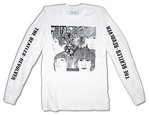 Beatles Revolver Album Cover White Long Sleeve Shirt (M)