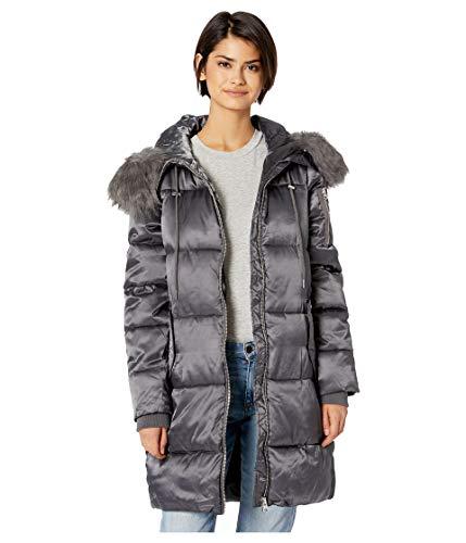 - Jessica Simpson Women's Puffer w/Faux Fur Hood Titanium Small