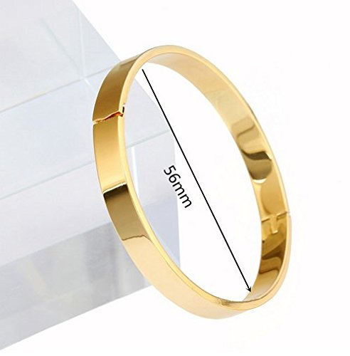 Small Size Plain Simple High Polished Brass Bangle for Girls Gold Color Lover Bangle