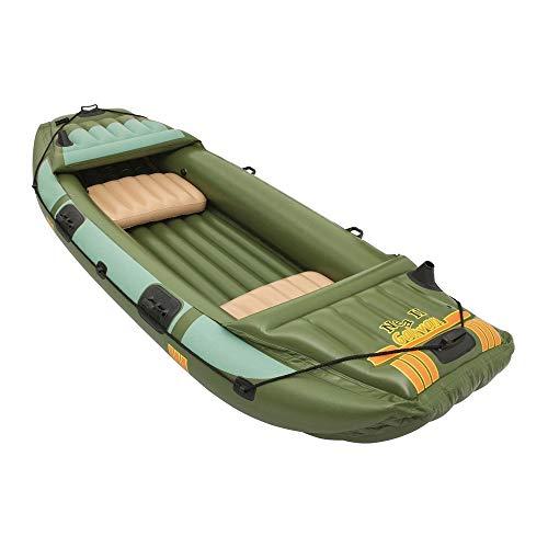 Bestway Hydro Force Neva III Heavy Duty Inflatable 3 Person Water Raft, Green