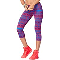 Zumba Wide Waistband Dance Fitness Compression Fit Print...