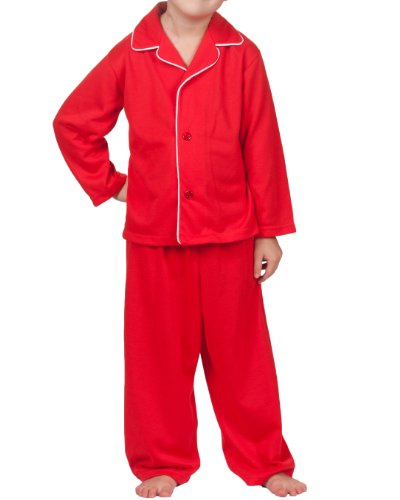 Tom and Jerry Boys or Girls Holiday Red Man Tailored 2pc Pajama Set