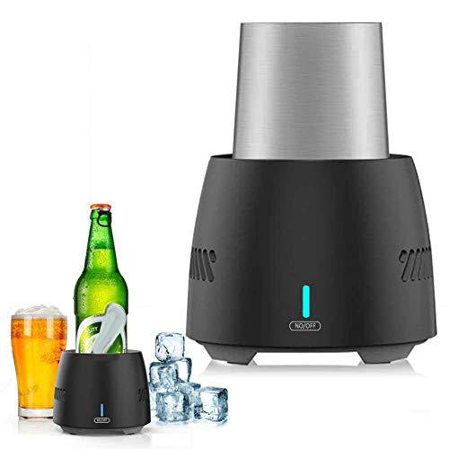 dezirZJjx Fast Cooling Cup, Beverage Mug Cooling,Wine Freeze Cooling Cups, Portable Electronic Refrigeration Cooler for Beer Wine Beverage ()