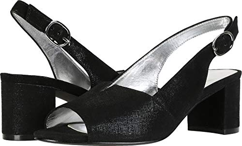 David Tate Women's Rave Black Metallic Suede 7.5 M US